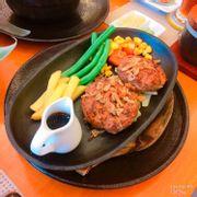 chảo hamburger thịt bò & heo sốt teriyaki: 79k