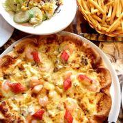 pizza hải sản 239k