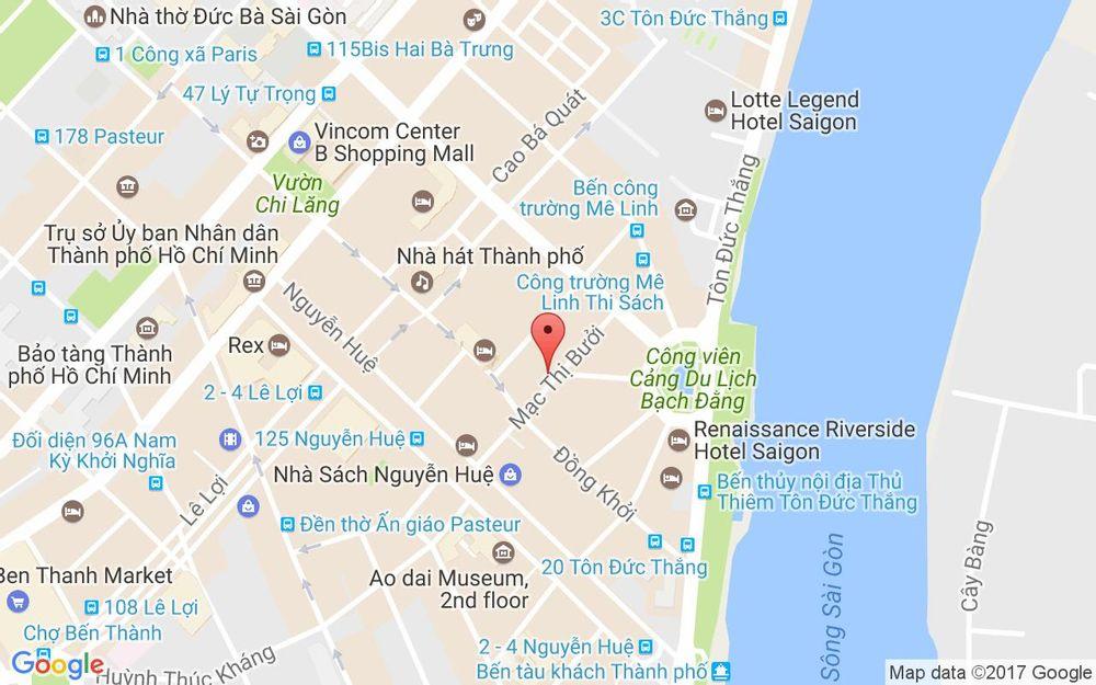 Vị trí bản đồ 46 - 48 Mạc Thị Bưởi Quận 1 TP. HCM