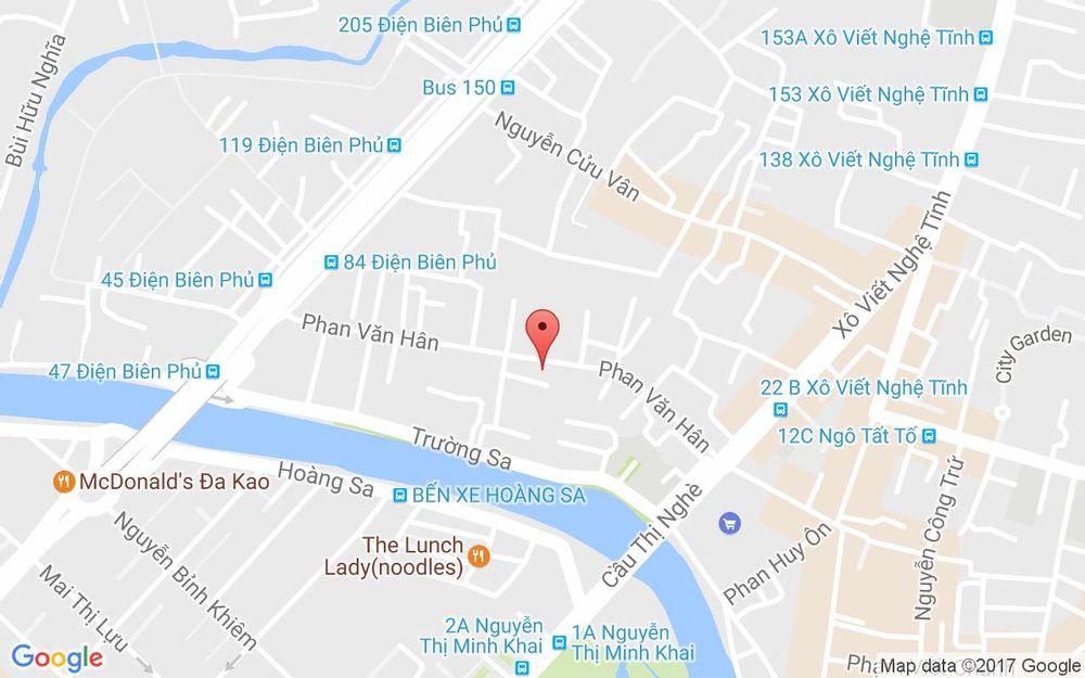 Vị trí bản đồ 95 Phan Văn Hân Quận Bình Thạnh TP. HCM
