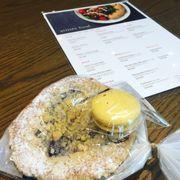 Mango Macaron & Blueberry Cheesecake Bread
