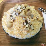 bingsu bột đậu xanh bánh gạo