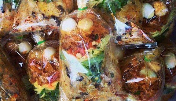 Image result for bánh tráng trộn chú viên