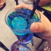 Soda blue ocean