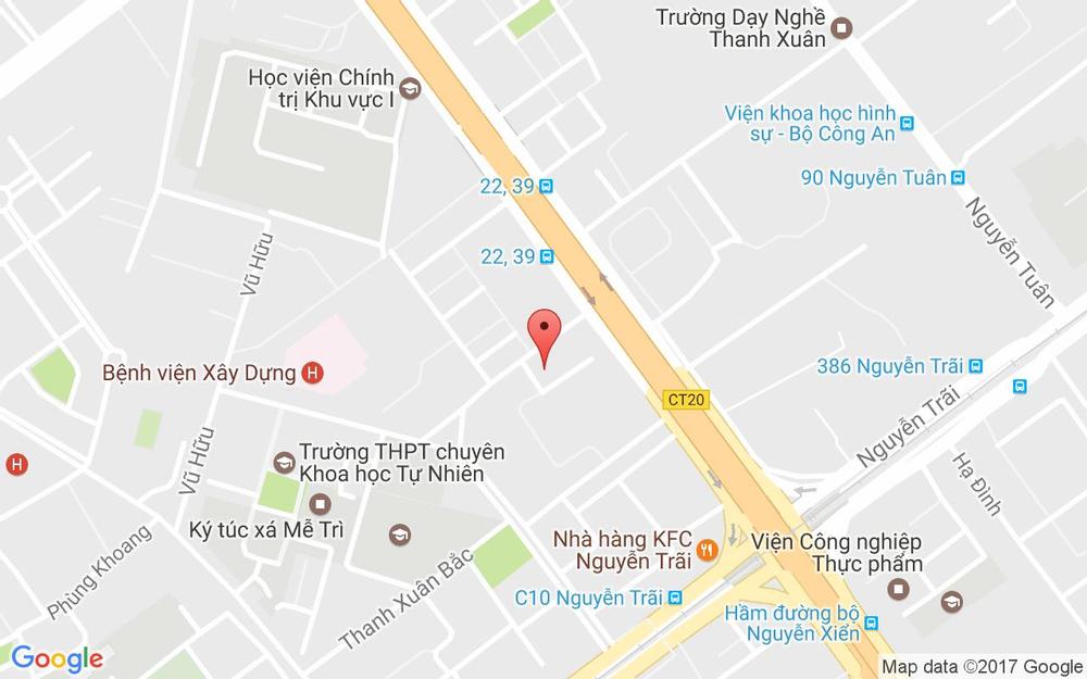 Vị trí bản đồ 109 B7 TT. Thanh Xuân Bắc Quận Thanh Xuân Hà Nội