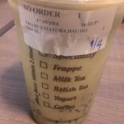 Trà sữa matcha đậu đỏ