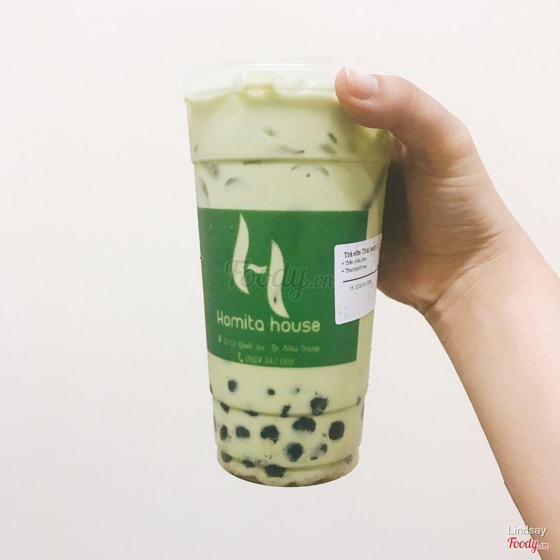 Trà sữa thái xanh size L + trân châu