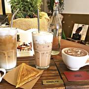 Latte + Black tea macchiato + Non-caffein addicted