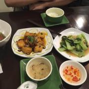 Nấm kho đậu, cải chíp xào nấm