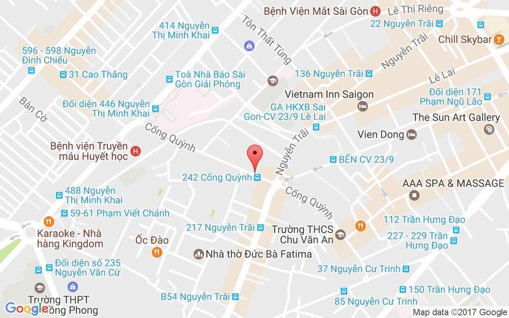 Vị trí bản đồ 244 Cống Quỳnh, P. Phạm Ngũ Lão Quận 1 TP. HCM