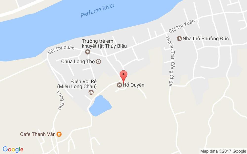 Vị trí bản đồ Hổ Quyền - 373 Bùi Thị Xuân ở Huế