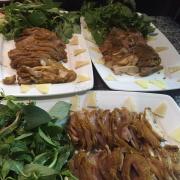 Món thịt gà đông tảo hấp giả chồn