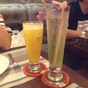 Soda kiwi + nước thơm ép