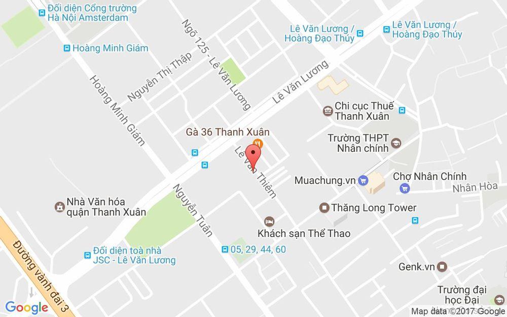Vị trí bản đồ Cổng 2 Làng Sinh Viên Hacinco, 15 Lê Văn Thiêm Quận Thanh Xuân Hà Nội