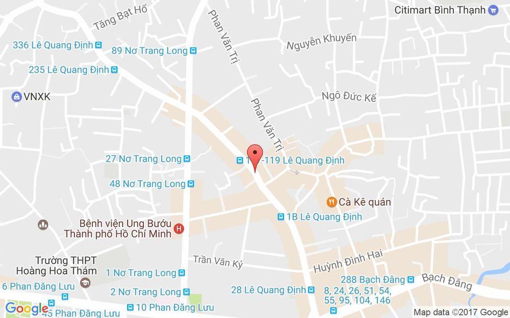 Vị trí bản đồ 484B Lê Quang Định, P. 11 Quận Bình Thạnh TP. HCM