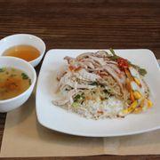 Cơm tấm Long Xuyên/ Long Xuyen broken rice with braised pork, shredded pork skin and egg cake