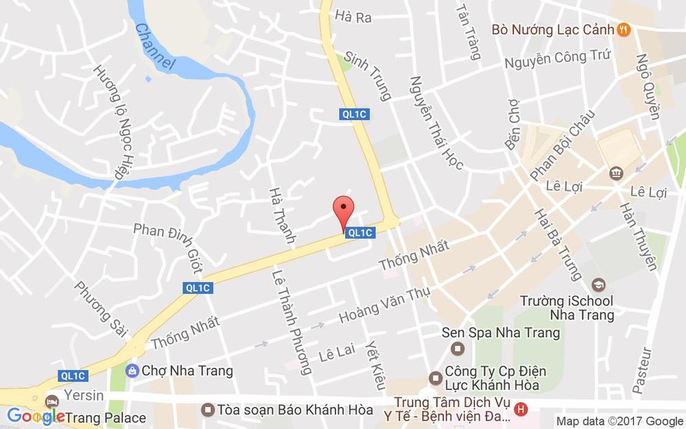 Vị trí bản đồ 29 Trần Quý Cáp Tp. Nha Trang Khánh Hoà