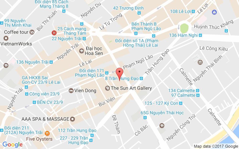 Vị trí bản đồ 193 Nguyễn Thái Học, P. Phạm Ngũ Lão Quận 1 TP. HCM