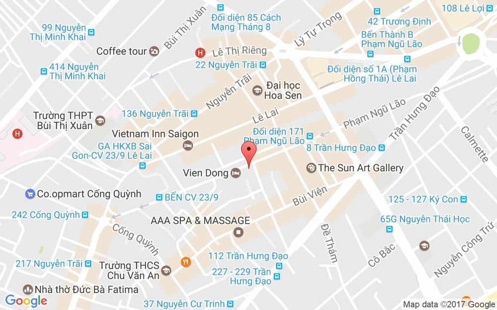 Vị trí bản đồ Liberty 4 Hotel, 265 Phạm Ngũ Lão Quận 1 TP. HCM