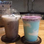 choco banana + blueberry yogurt