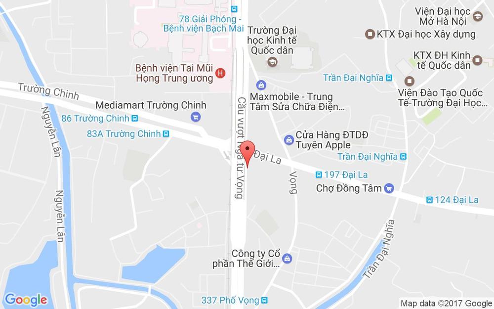 Vị trí bản đồ 379 Giải Phóng Quận Thanh Xuân Hà Nội