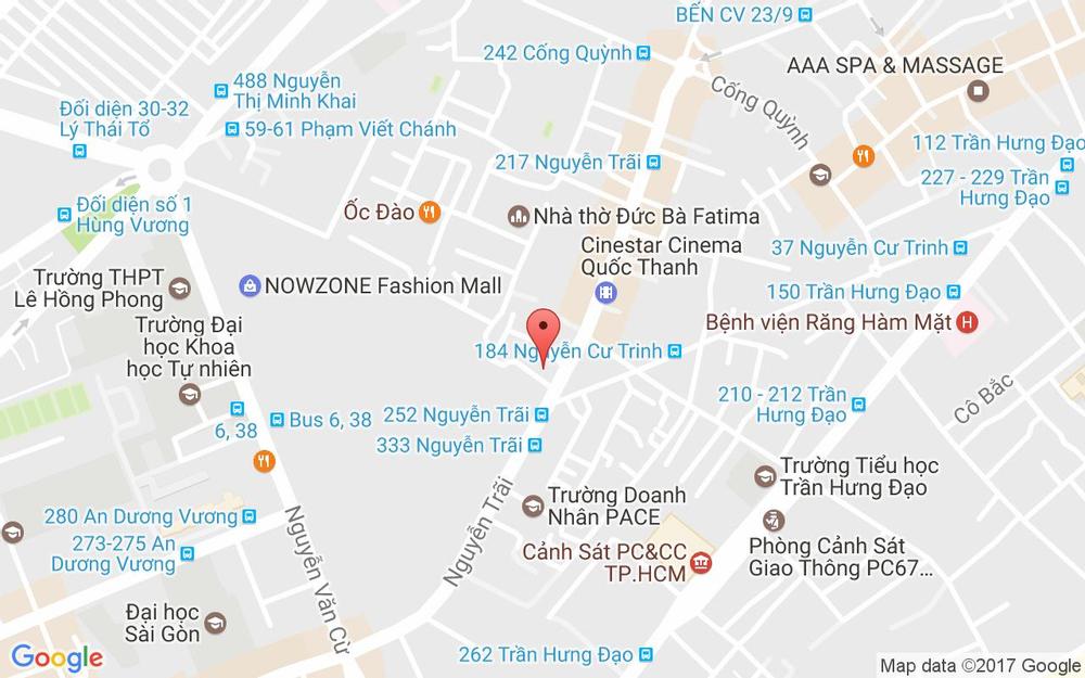 Vị trí bản đồ 214/B8 Nguyễn Trãi, P. Nguyễn Cư Trinh Quận 1 TP. HCM