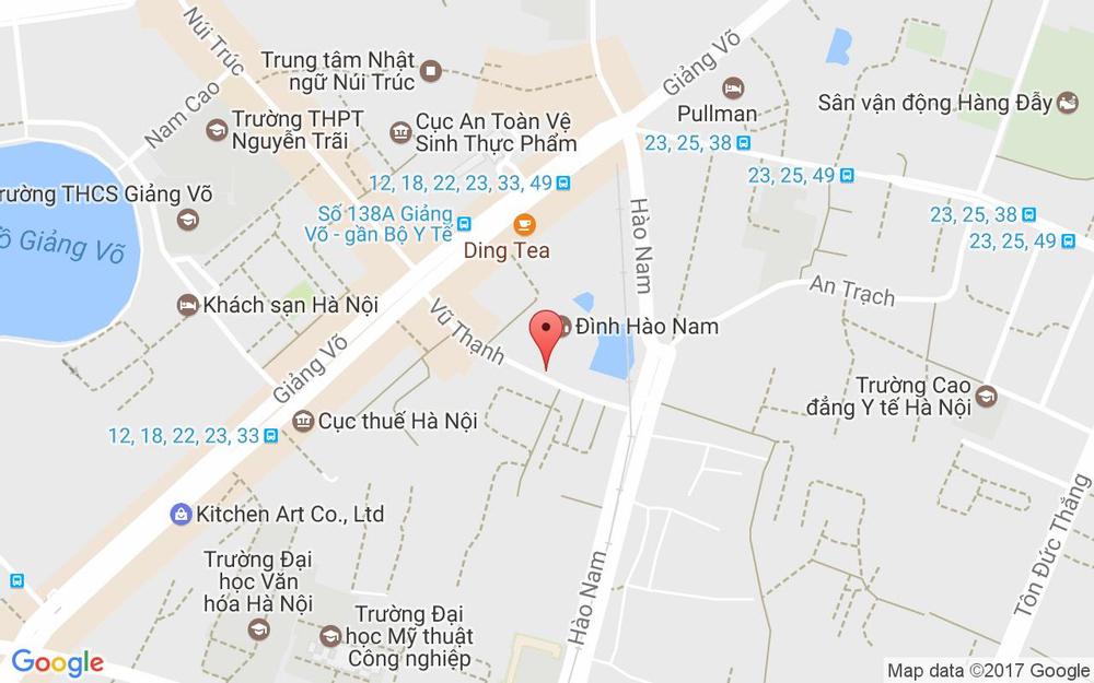 Vị trí bản đồ 43 Vũ Thạnh Quận Đống Đa Hà Nội