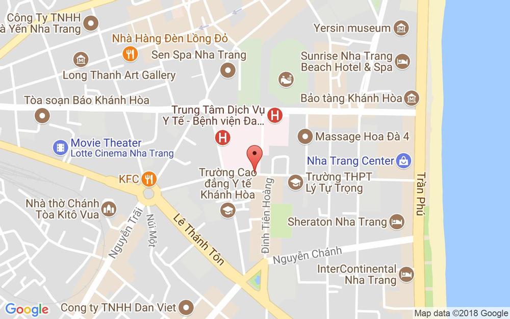 Vị trí bản đồ 99 Hoàng Văn Thụ Tp. Nha Trang Khánh Hoà