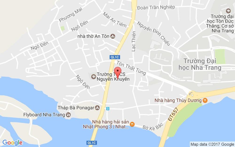Vị trí bản đồ Chợ Vĩnh Thọ, Đường 2 Tháng 4 Tp. Nha Trang Khánh Hoà