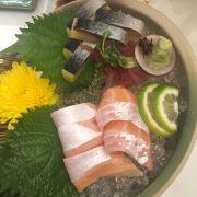 Sashimi cá chích, bụng cá hồi
