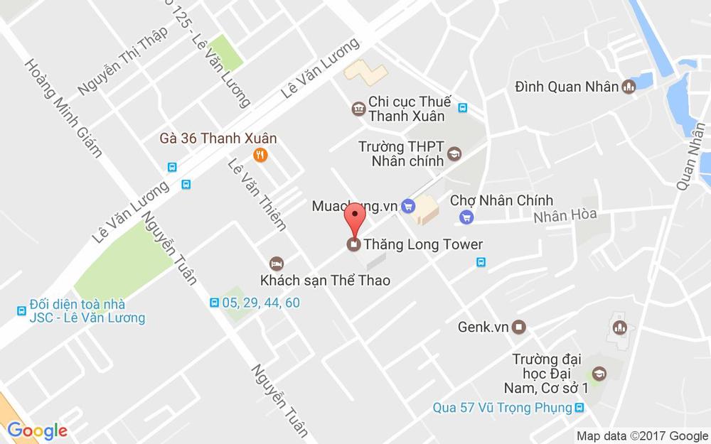 Vị trí bản đồ 99 Ngụy Như Kon Tum Quận Thanh Xuân Hà Nội