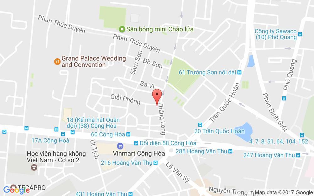Vị trí bản đồ 33 Thăng Long, P. 4 Quận Tân Bình TP. HCM