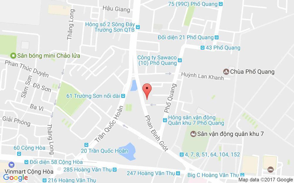 Vị trí bản đồ 14A Phan Đình Giót, P. 2 Quận Tân Bình TP. HCM