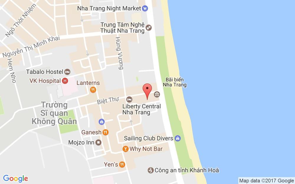 Vị trí bản đồ 64B/7 Trần Phú Tp. Nha Trang Khánh Hoà