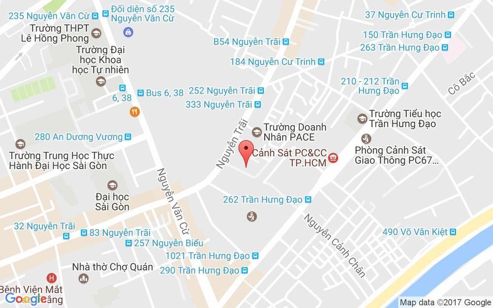 Vị trí bản đồ 8A1 Nguyễn Cảnh Chân, P. Nguyễn Cư Trinh Quận 1 TP. HCM