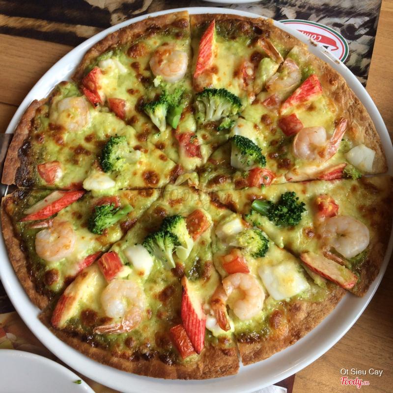 Pizza hải sản sốt pesto