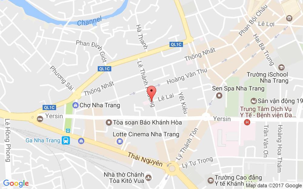 Vị trí bản đồ 42 Lê Thành Phương Tp. Nha Trang Khánh Hoà