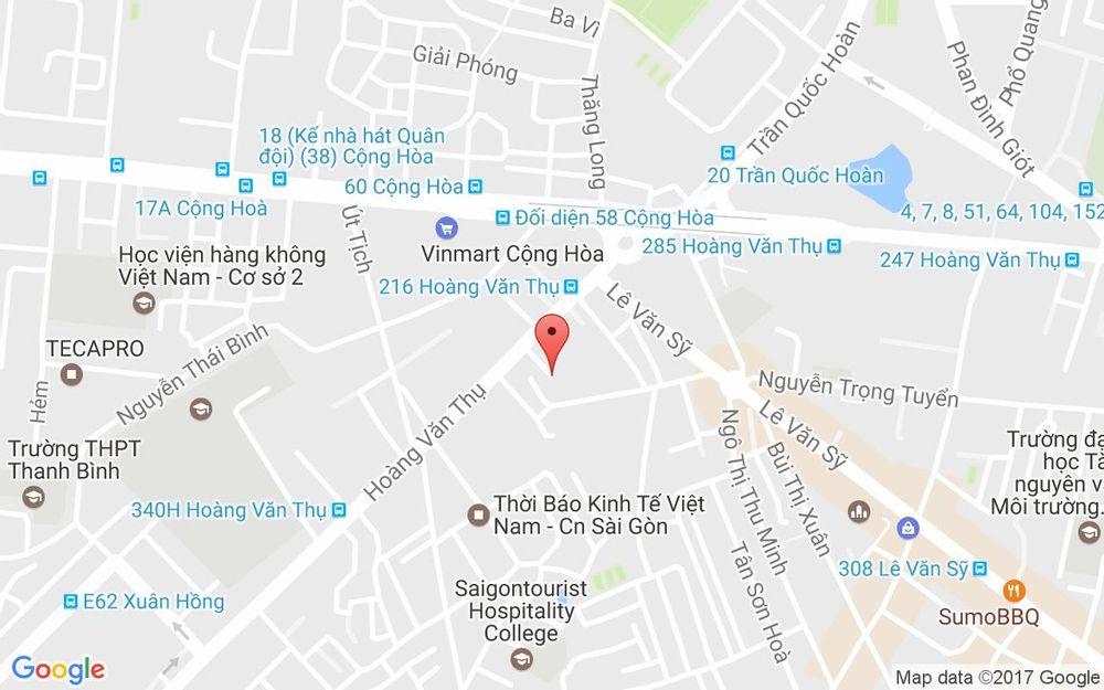 Vị trí bản đồ 415 Hoàng Văn Thụ, P. 2 Quận Tân Bình TP. HCM