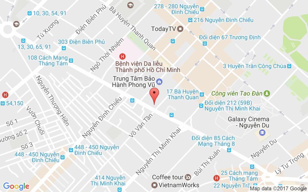 Vị trí bản đồ Tầng 3 - 4 - 5, Lim II Tower, 62A Cách Mạng Tháng 8, P. 6 Quận 3 TP. HCM