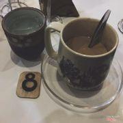 Sữa tươi cà phê nóng.