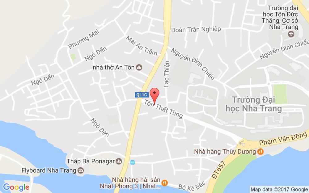 Vị trí bản đồ 44 Tôn Thất Tùng Tp. Nha Trang Khánh Hoà