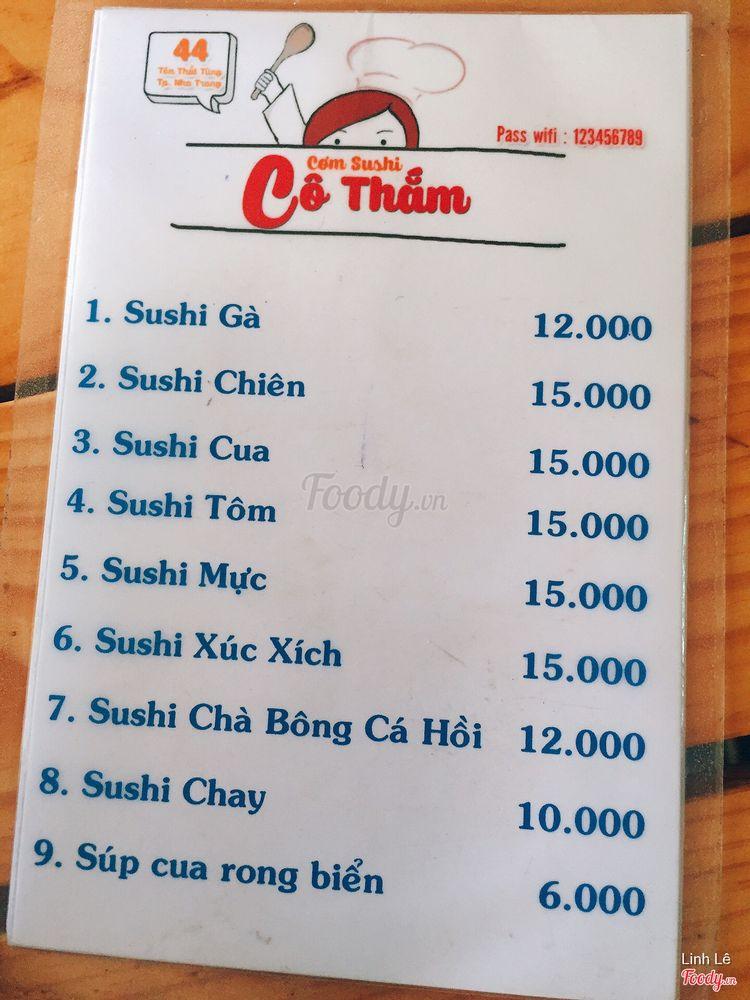 Cơm Sushi Cô Thắm - Tôn Thất Tùng ở Khánh Hoà