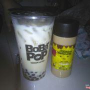 Trà sữa trà xanh trân châu đen size L