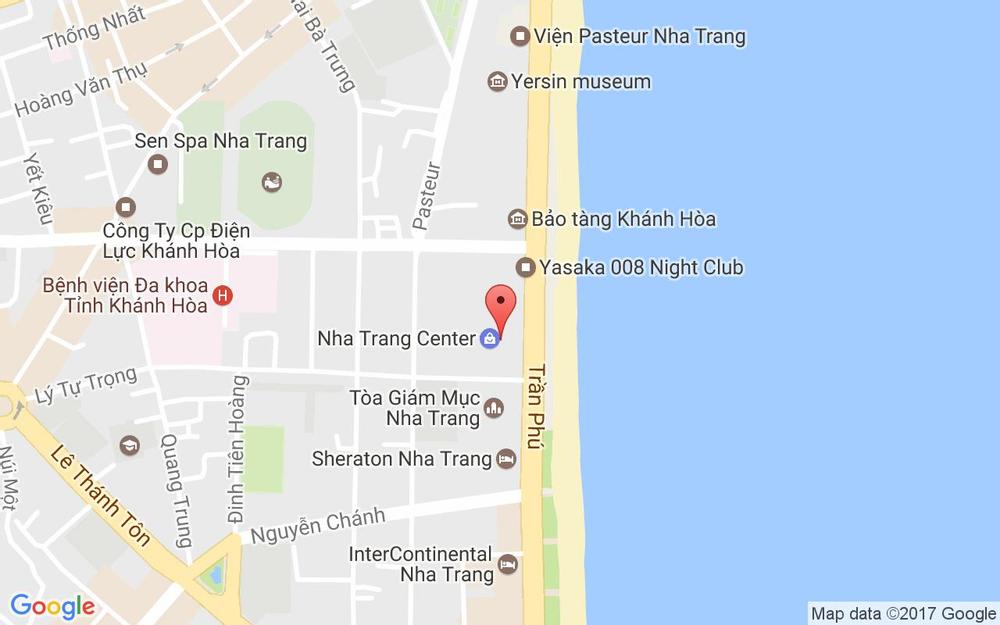 Vị trí bản đồ Nha Trang Centre, 20 Trần Phú, P. Lộc Thọ Tp. Nha Trang Khánh Hoà