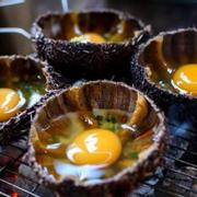 nhum  nướng trứng cút