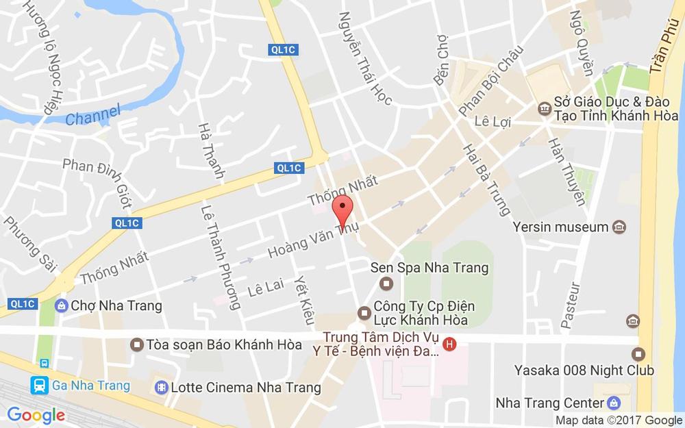 Vị trí bản đồ 32 Quang Trung Tp. Nha Trang Khánh Hoà