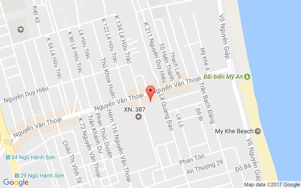 Vị trí bản đồ Royal Lotus Hotel - Nguyễn Văn Thoại ở Đà Nẵng