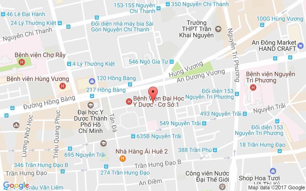 Vị trí bản đồ 8/14 Đặng Thái Thân Quận 5 TP. HCM