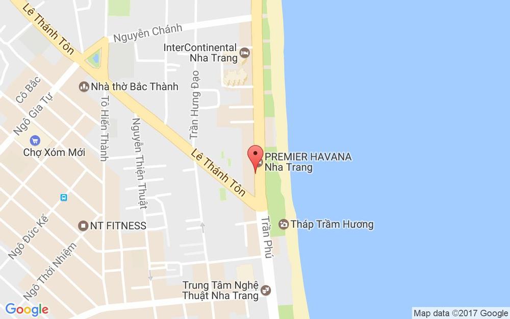Vị trí bản đồ 42 Trần Phú Tp. Nha Trang Khánh Hoà