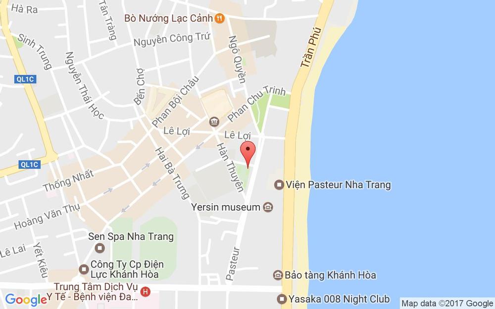 Vị trí bản đồ 01 Phạm Ngũ Lão - Nha Trang - Khánh Hòa Tp. Nha Trang Khánh Hoà